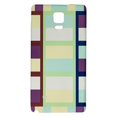 Maximum Color Rainbow Brown Blue Purple Grey Plaid Flag Galaxy Note 4 Back Case