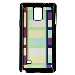 Maximum Color Rainbow Brown Blue Purple Grey Plaid Flag Samsung Galaxy Note 4 Case (black)