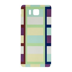 Maximum Color Rainbow Brown Blue Purple Grey Plaid Flag Samsung Galaxy Alpha Hardshell Back Case