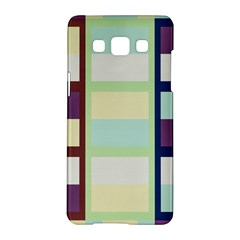 Maximum Color Rainbow Brown Blue Purple Grey Plaid Flag Samsung Galaxy A5 Hardshell Case  by Alisyart