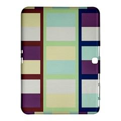 Maximum Color Rainbow Brown Blue Purple Grey Plaid Flag Samsung Galaxy Tab 4 (10 1 ) Hardshell Case
