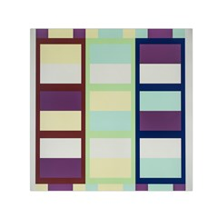 Maximum Color Rainbow Brown Blue Purple Grey Plaid Flag Small Satin Scarf (square)
