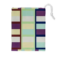 Maximum Color Rainbow Brown Blue Purple Grey Plaid Flag Drawstring Pouches (extra Large) by Alisyart