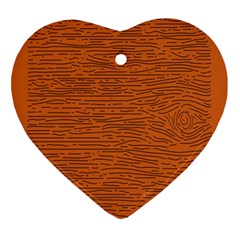 Illustration Orange Grains Line Ornament (heart) by Alisyart