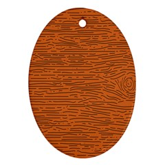 Illustration Orange Grains Line Oval Ornament (two Sides) by Alisyart