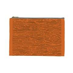 Illustration Orange Grains Line Cosmetic Bag (large)