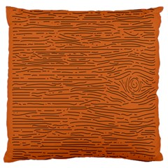 Illustration Orange Grains Line Large Cushion Case (one Side) by Alisyart
