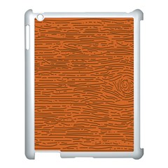 Illustration Orange Grains Line Apple Ipad 3/4 Case (white)