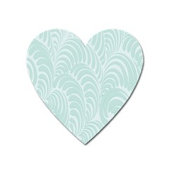 Leaf Blue Heart Magnet by Alisyart
