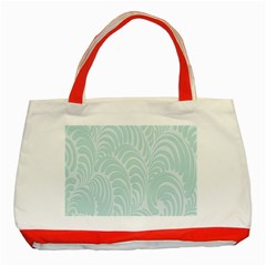 Leaf Blue Classic Tote Bag (red) by Alisyart