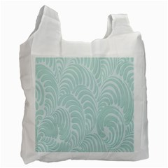 Leaf Blue Recycle Bag (one Side) by Alisyart