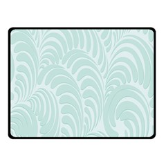 Leaf Blue Fleece Blanket (small) by Alisyart