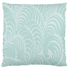 Leaf Blue Large Cushion Case (two Sides)