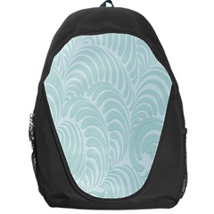 Leaf Blue Backpack Bag by Alisyart