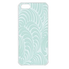 Leaf Blue Apple Iphone 5 Seamless Case (white) by Alisyart
