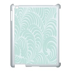 Leaf Blue Apple Ipad 3/4 Case (white)
