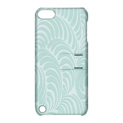 Leaf Blue Apple Ipod Touch 5 Hardshell Case With Stand