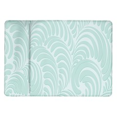 Leaf Blue Samsung Galaxy Tab 10 1  P7500 Flip Case