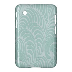 Leaf Blue Samsung Galaxy Tab 2 (7 ) P3100 Hardshell Case  by Alisyart