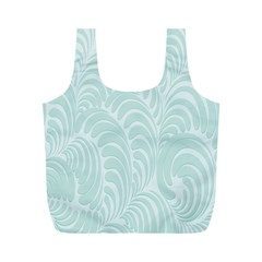 Leaf Blue Full Print Recycle Bags (m)  by Alisyart