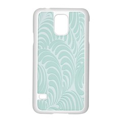 Leaf Blue Samsung Galaxy S5 Case (white)