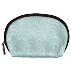 Leaf Blue Accessory Pouches (large)