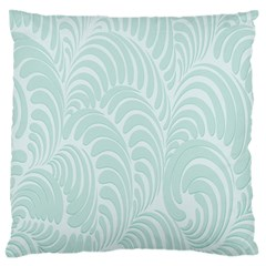 Leaf Blue Large Flano Cushion Case (one Side) by Alisyart