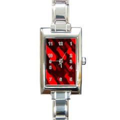 Missile Rockets Red Rectangle Italian Charm Watch by Alisyart