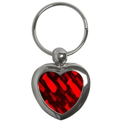 Missile Rockets Red Key Chains (heart)  by Alisyart