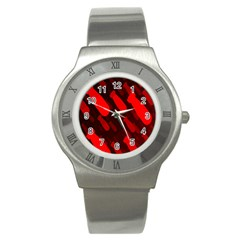 Missile Rockets Red Stainless Steel Watch by Alisyart