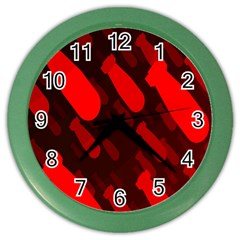 Missile Rockets Red Color Wall Clocks
