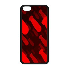 Missile Rockets Red Apple Iphone 5c Seamless Case (black) by Alisyart