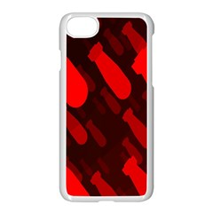 Missile Rockets Red Apple Iphone 7 Seamless Case (white) by Alisyart