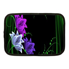 Neon Flowers Floral Rose Light Green Purple White Pink Sexy Netbook Case (medium)  by Alisyart