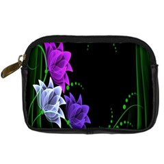 Neon Flowers Floral Rose Light Green Purple White Pink Sexy Digital Camera Cases