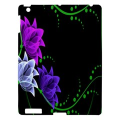 Neon Flowers Floral Rose Light Green Purple White Pink Sexy Apple Ipad 3/4 Hardshell Case by Alisyart