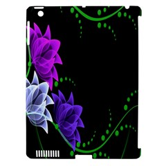 Neon Flowers Floral Rose Light Green Purple White Pink Sexy Apple Ipad 3/4 Hardshell Case (compatible With Smart Cover)