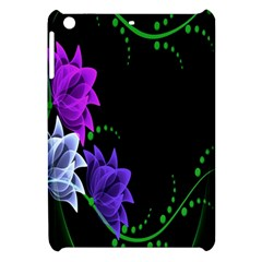 Neon Flowers Floral Rose Light Green Purple White Pink Sexy Apple Ipad Mini Hardshell Case by Alisyart