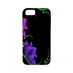 Neon Flowers Floral Rose Light Green Purple White Pink Sexy Apple Iphone 5 Classic Hardshell Case (pc+silicone)