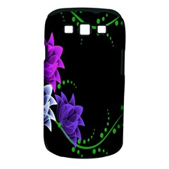 Neon Flowers Floral Rose Light Green Purple White Pink Sexy Samsung Galaxy S Iii Classic Hardshell Case (pc+silicone)