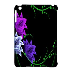 Neon Flowers Floral Rose Light Green Purple White Pink Sexy Apple Ipad Mini Hardshell Case (compatible With Smart Cover)
