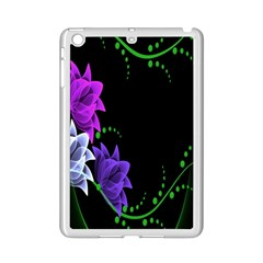 Neon Flowers Floral Rose Light Green Purple White Pink Sexy Ipad Mini 2 Enamel Coated Cases