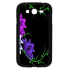 Neon Flowers Floral Rose Light Green Purple White Pink Sexy Samsung Galaxy Grand Duos I9082 Case (black) by Alisyart