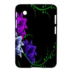 Neon Flowers Floral Rose Light Green Purple White Pink Sexy Samsung Galaxy Tab 2 (7 ) P3100 Hardshell Case  by Alisyart