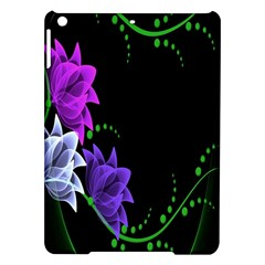 Neon Flowers Floral Rose Light Green Purple White Pink Sexy Ipad Air Hardshell Cases