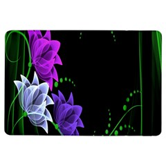 Neon Flowers Floral Rose Light Green Purple White Pink Sexy Ipad Air Flip by Alisyart