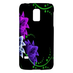 Neon Flowers Floral Rose Light Green Purple White Pink Sexy Galaxy S5 Mini by Alisyart