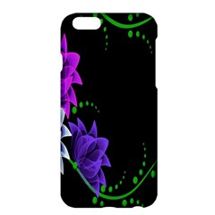 Neon Flowers Floral Rose Light Green Purple White Pink Sexy Apple Iphone 6 Plus/6s Plus Hardshell Case
