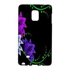 Neon Flowers Floral Rose Light Green Purple White Pink Sexy Galaxy Note Edge