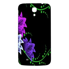 Neon Flowers Floral Rose Light Green Purple White Pink Sexy Samsung Galaxy Mega I9200 Hardshell Back Case